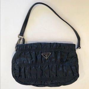 Prada Vintage Quilted Satin Mini Hobo Evening Bag